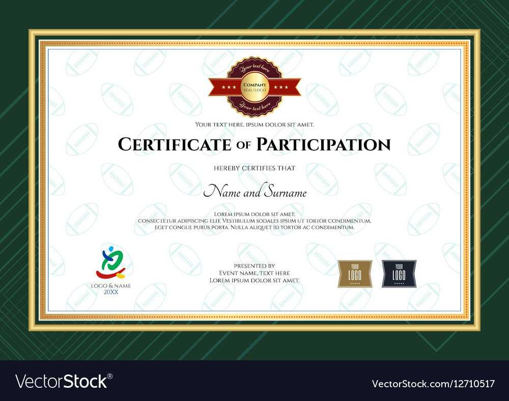 017 Template Ideas Certificate Of Participation In Sport The For Sample Certificate Of Participation Template
