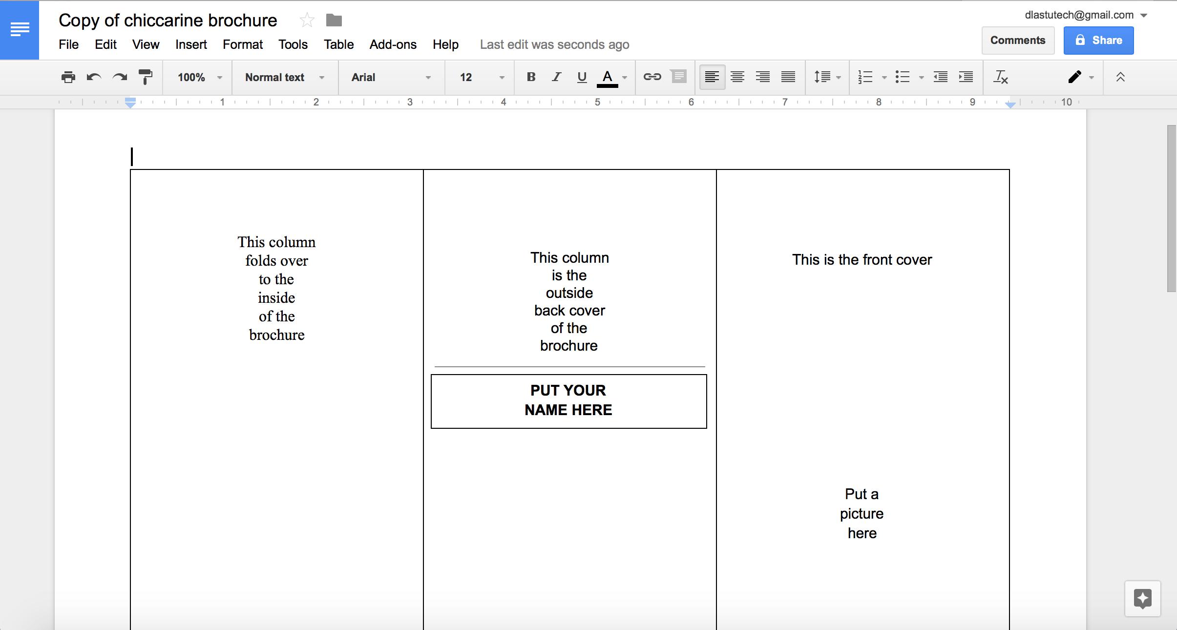 019 Blank Tri Fold Brochure Template Google Slides Ideas Inside Brochure Template For Google Docs