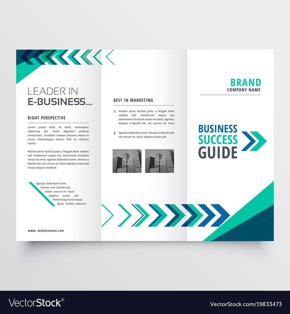 019 Business Tri Fold Brochure Template Design With Vector Intended For Adobe Illustrator Tri Fold Brochure Template