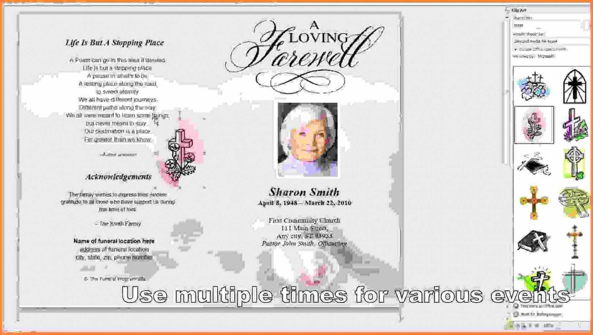 019 Template Ideas Memorial Cards Officeworks Mallerstang Within Memorial Card Template Word