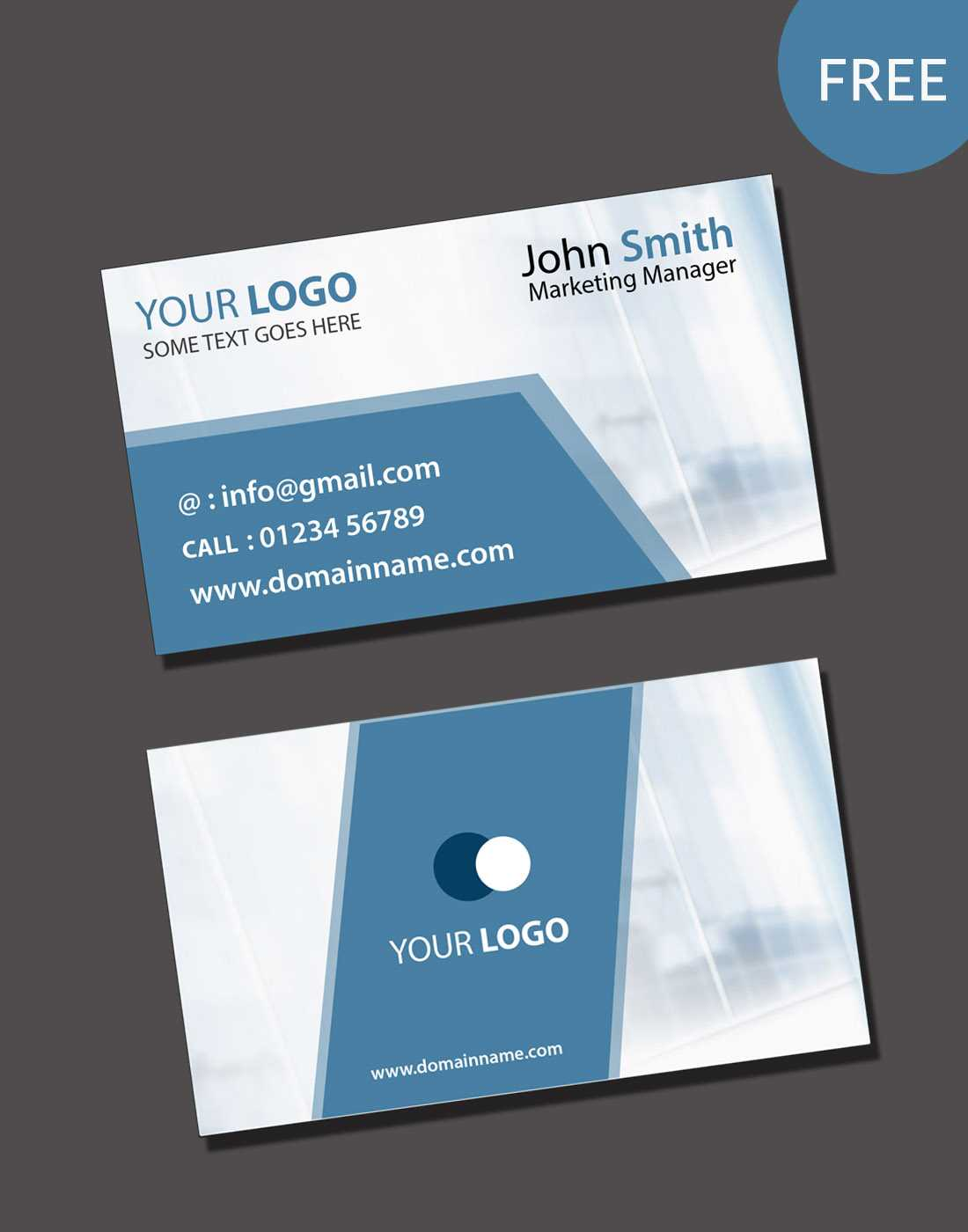 020 Free Blank Business Card Templates Psd Template Download With Regard To Blank Business Card Template Download