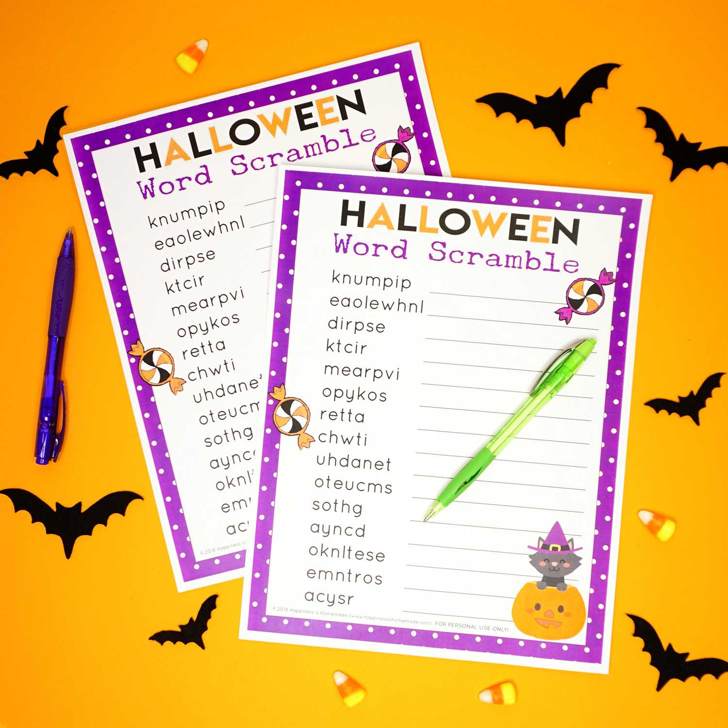020 Halloween Word Scramble For Kids And Adults Template Within Halloween Certificate Template