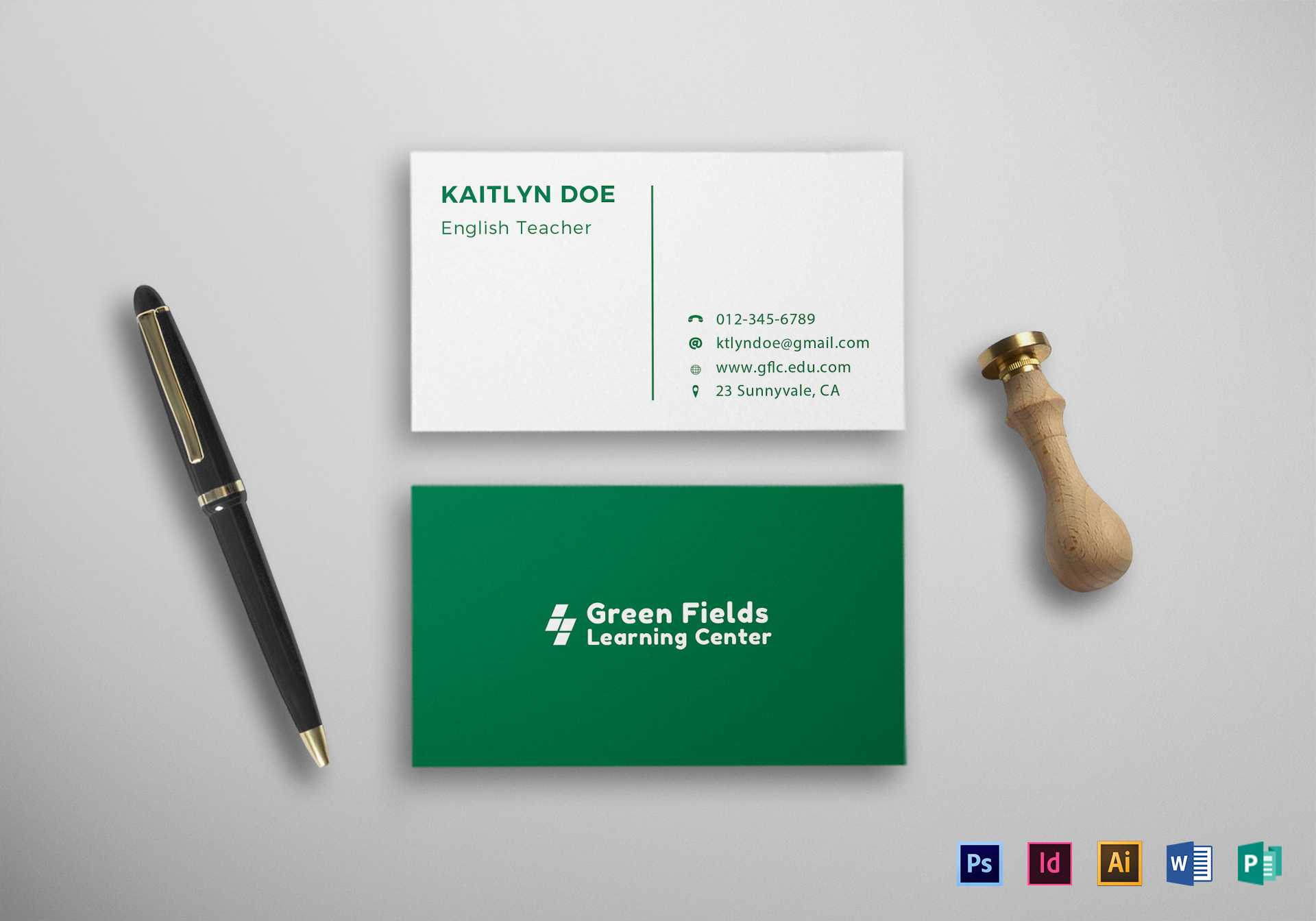 020 Teachers Business Card Mock Up Ms Word Template Free Throughout Business Cards For Teachers Templates Free