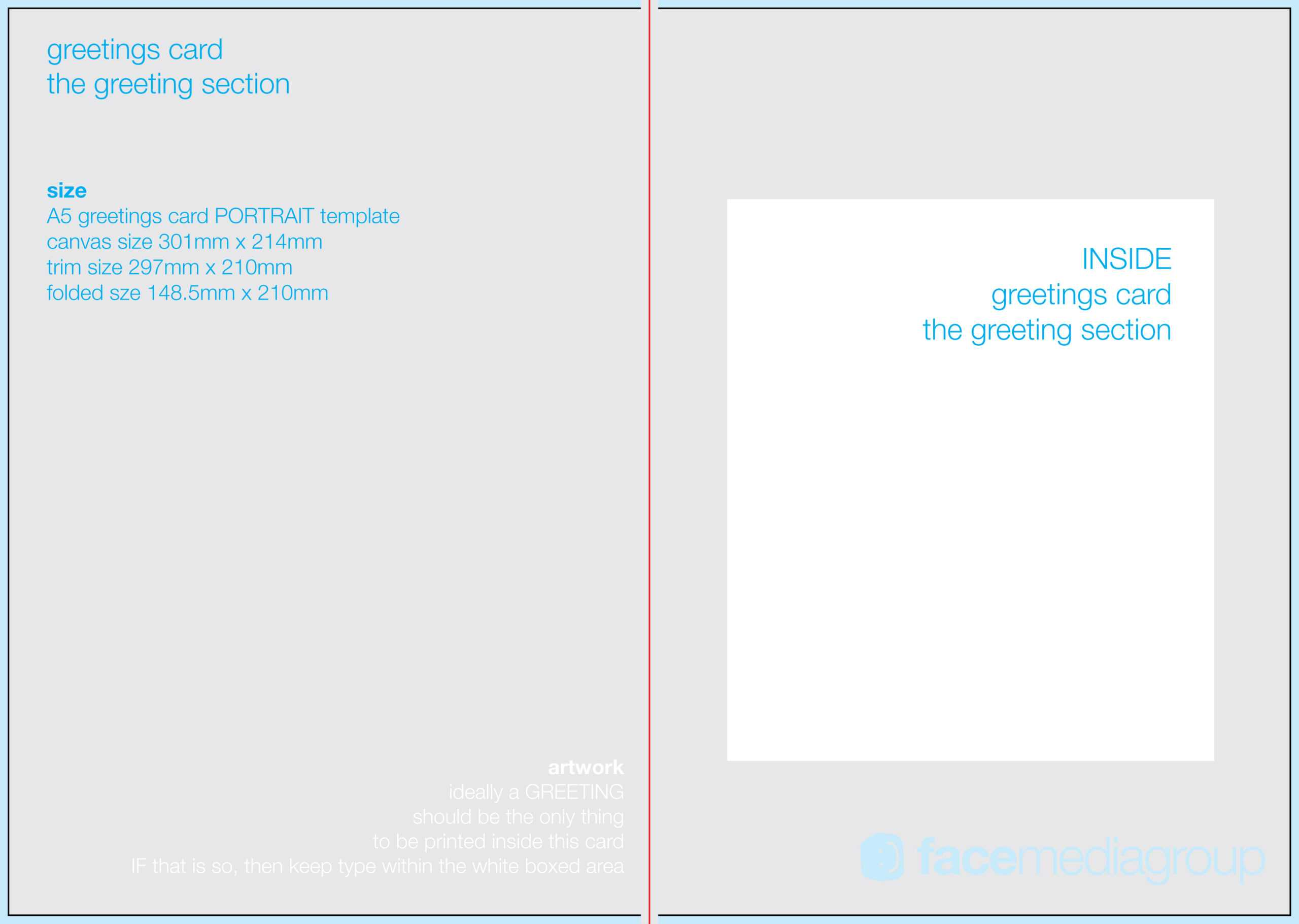 022 Blank Greeting Card Template Photoshop Inside Birthday Card Template Indesign