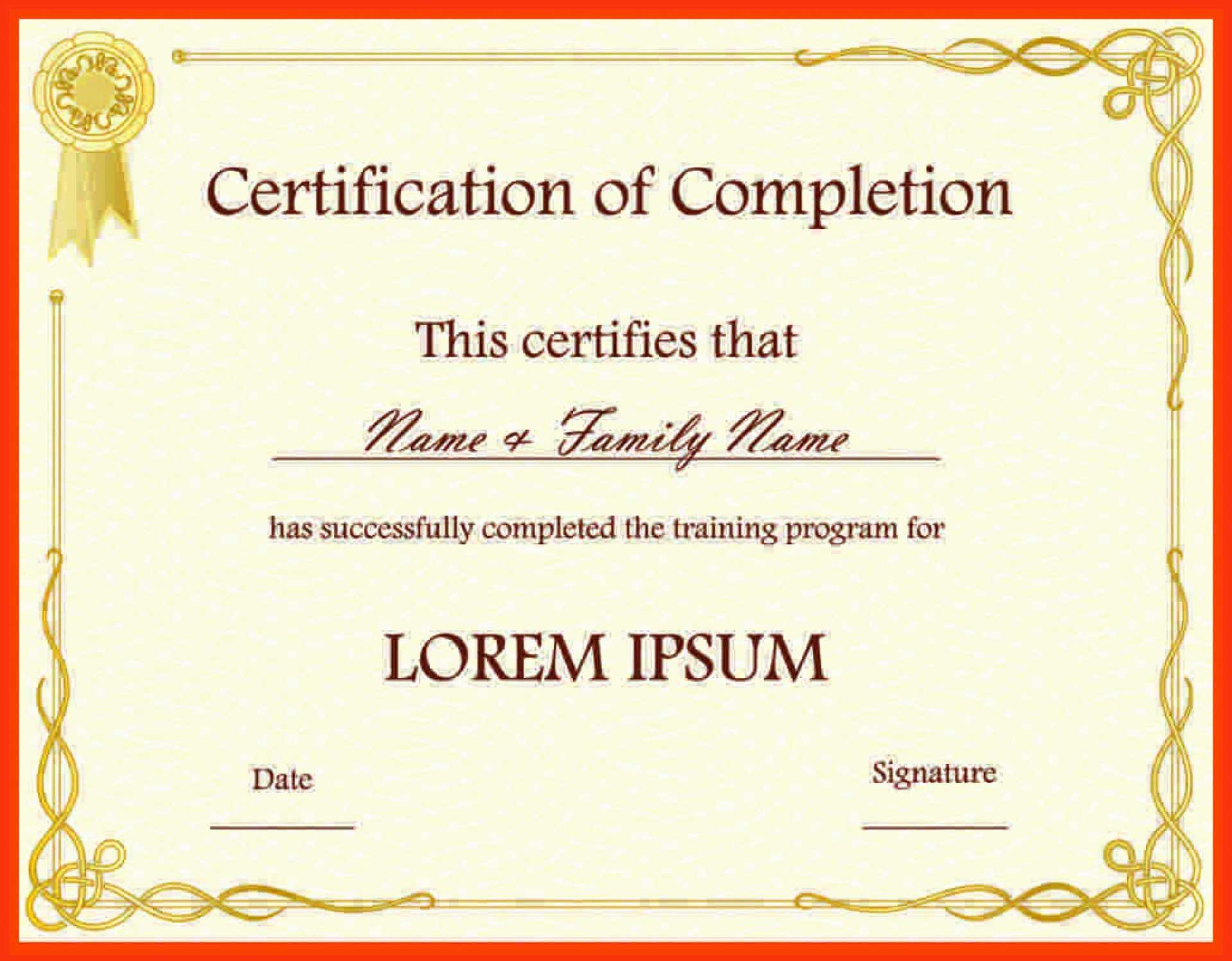 023 Template Ideas Certificate Free Templates For Fantastic Inside Certificate Of Participation Word Template