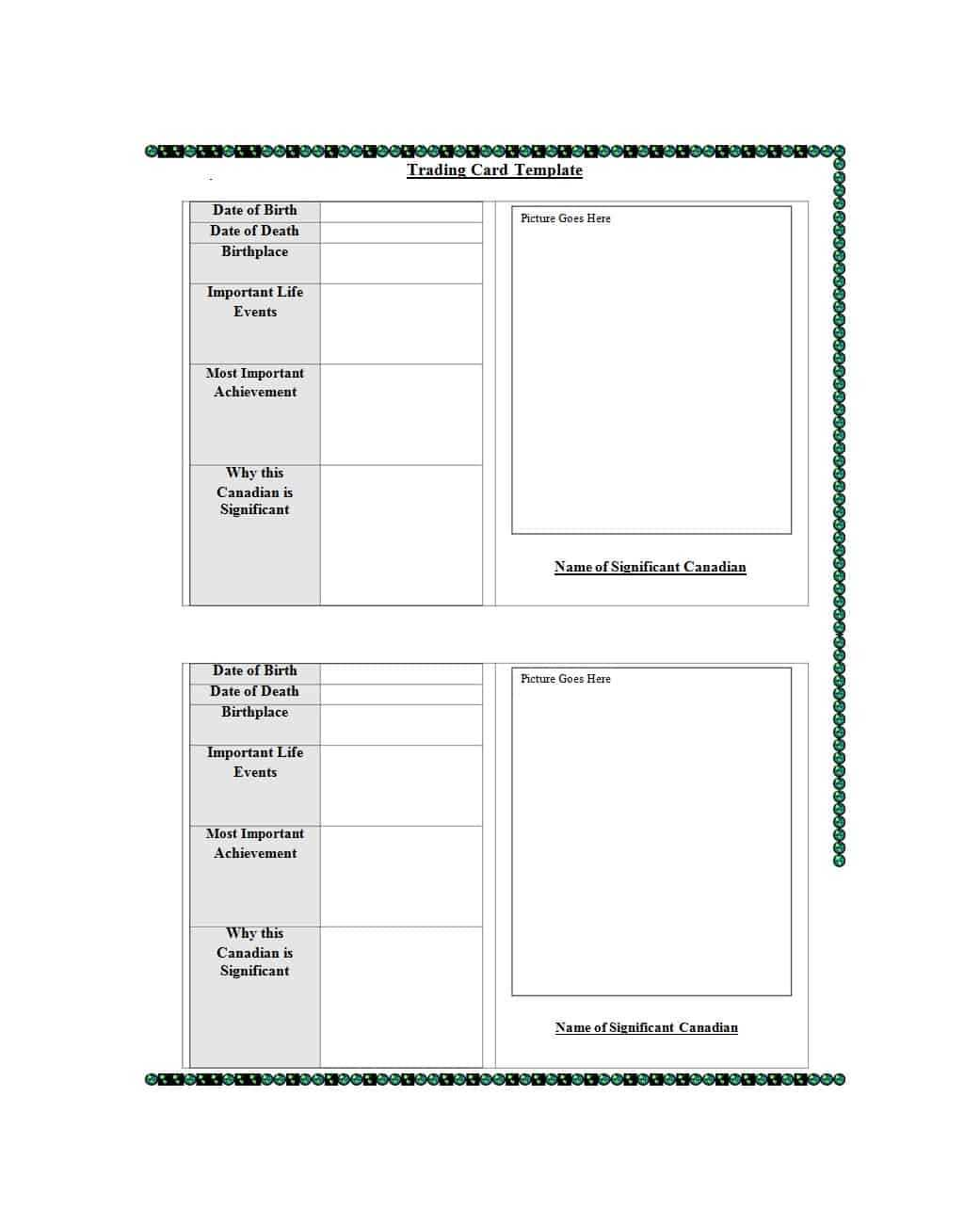 024 Baseball Trading Card Template Free Download Ideas Inside Trading Cards Templates Free Download