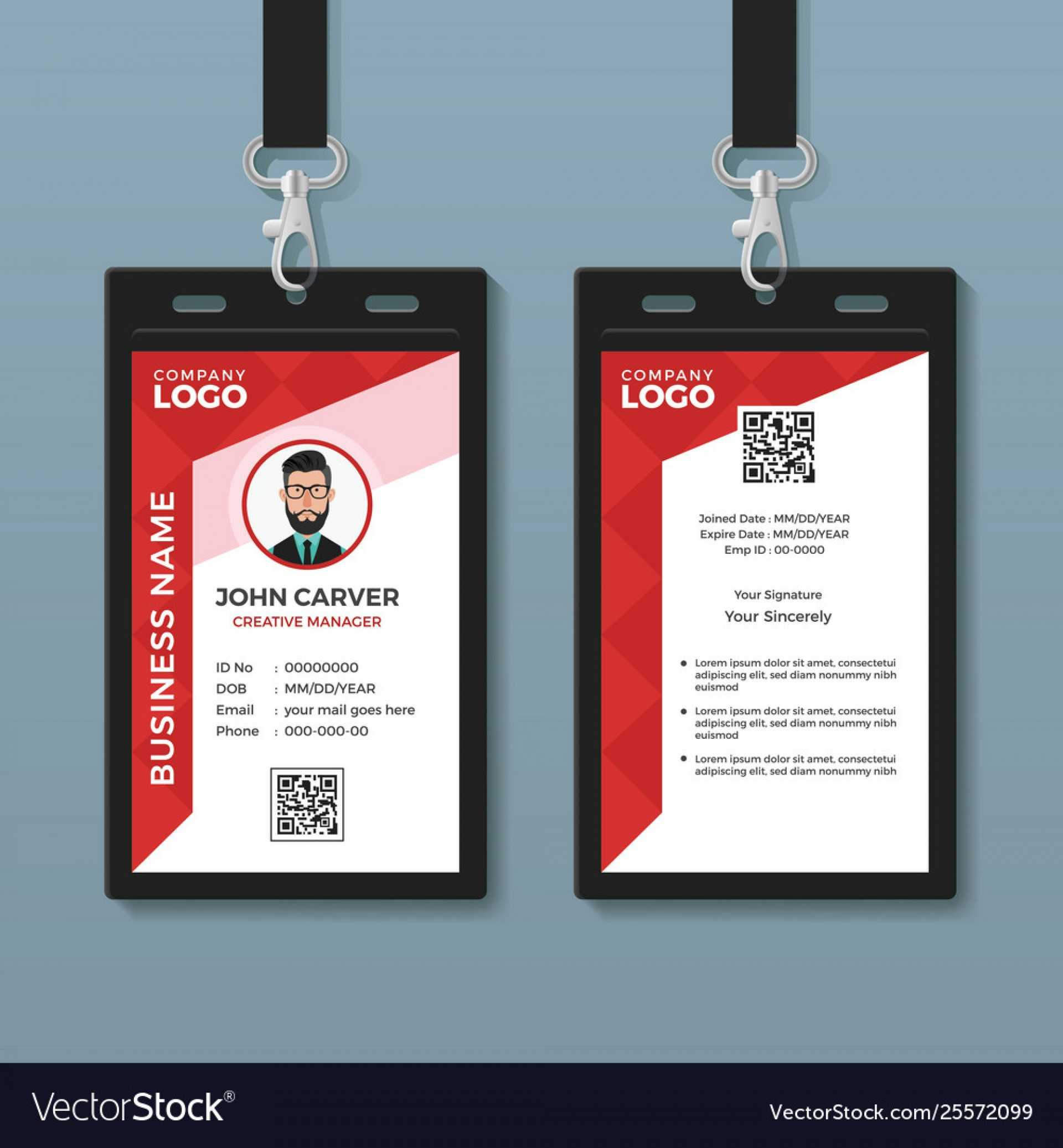 024 Id Card Template Photoshop Ideas Free Simple Red Graphic Regarding Pvc Id Card Template