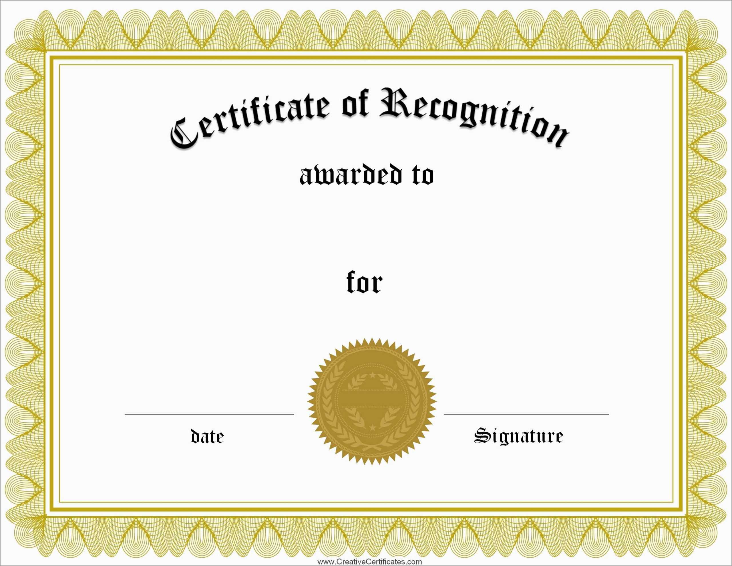 025 Template Ideas Certificate Of Recognition Word Award Intended For Certificate Of Recognition Word Template