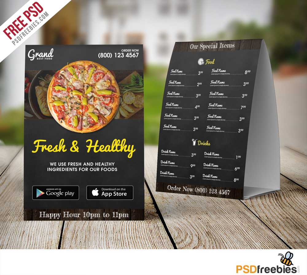 026 Template Ideas Tri Fold Restaurant Food Menu Free Psd For Tri Fold Tent Card Template