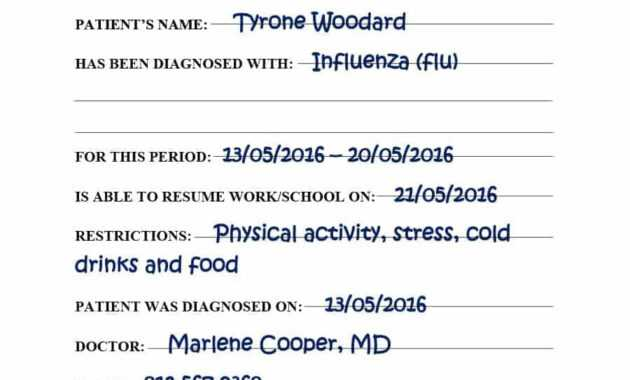 029 Fake Doctors Note Templates For School Work With Regard inside Free Fake Medical Certificate Template