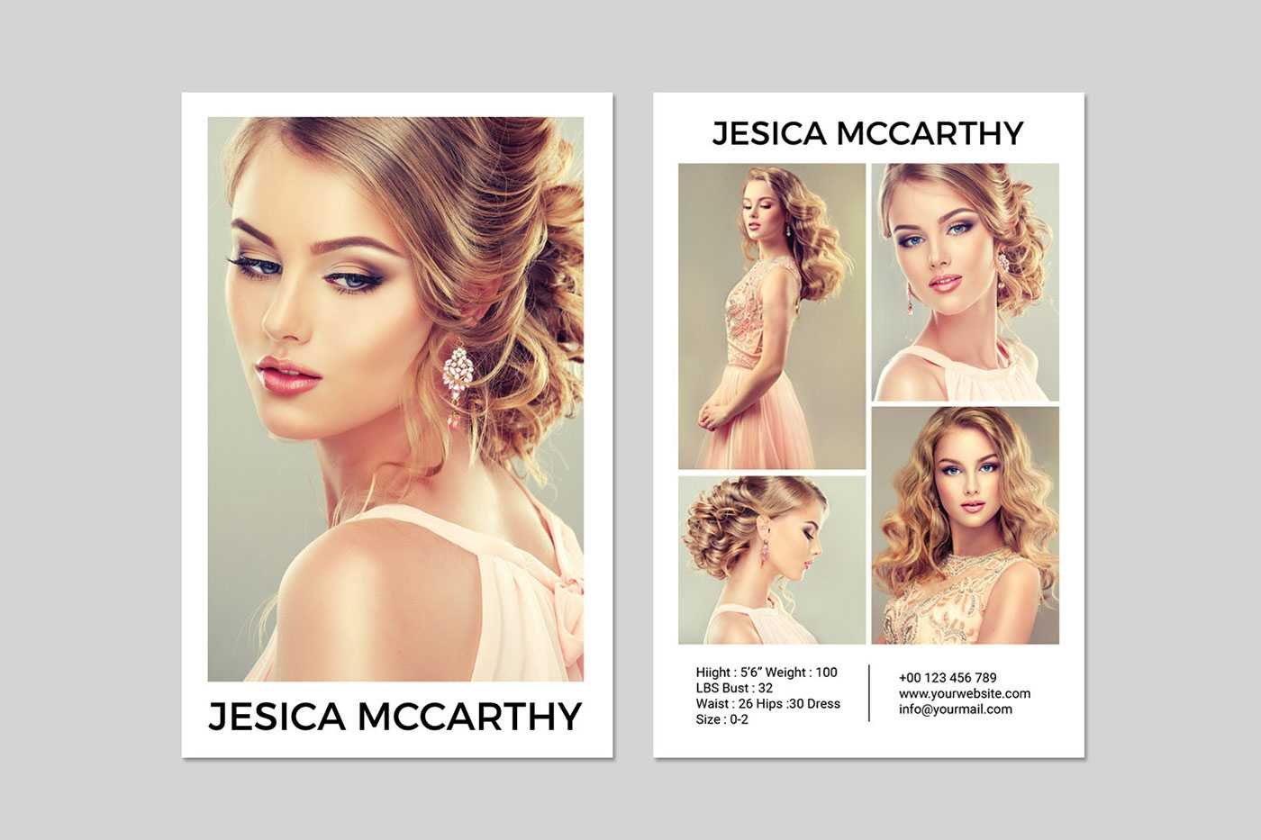 031 Model Comp Card Template Outstanding Ideas Psd Free Inside Free Model Comp Card Template