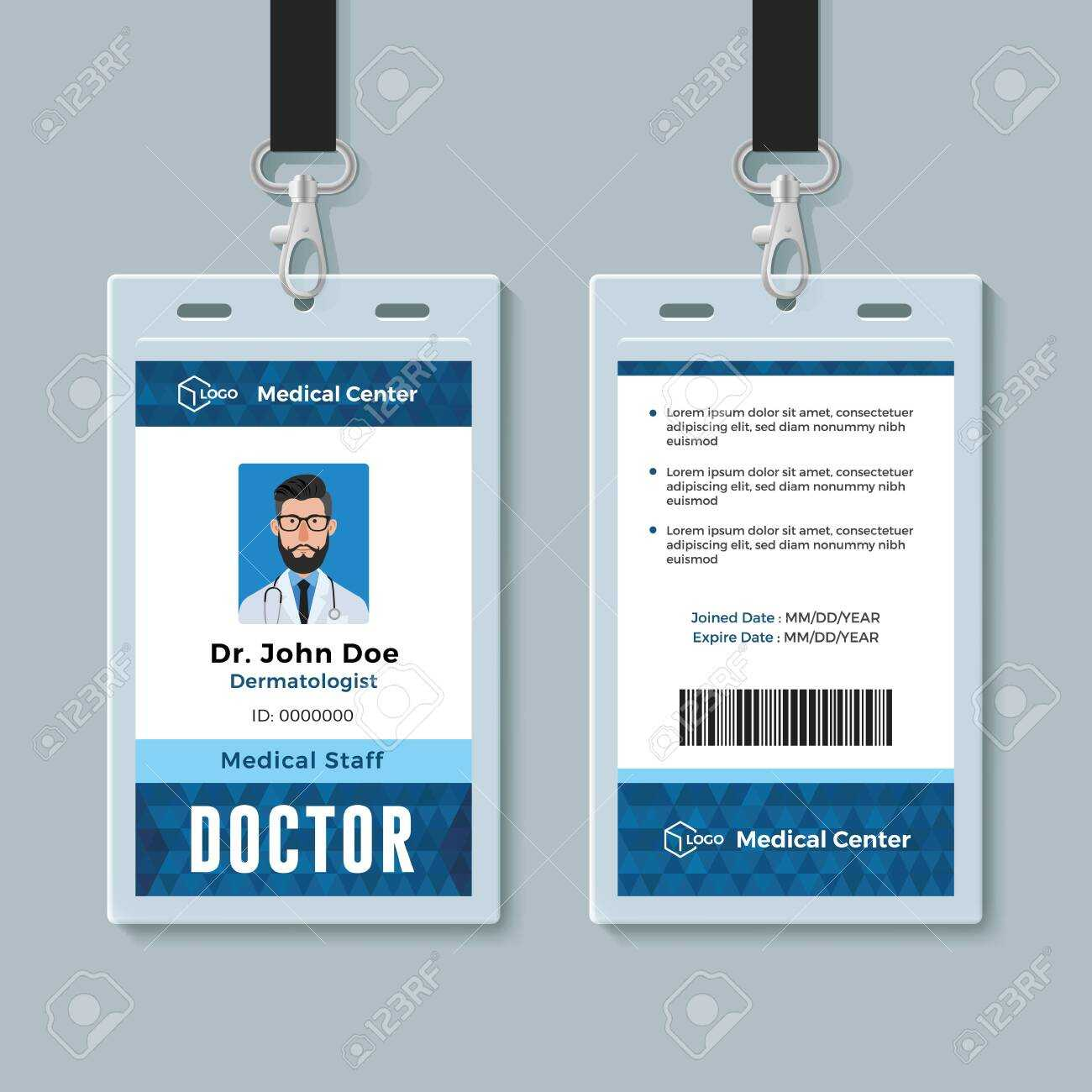 031 Template Ideas Employee Id Card Microsoft Word Free Within Doctor Id Card Template