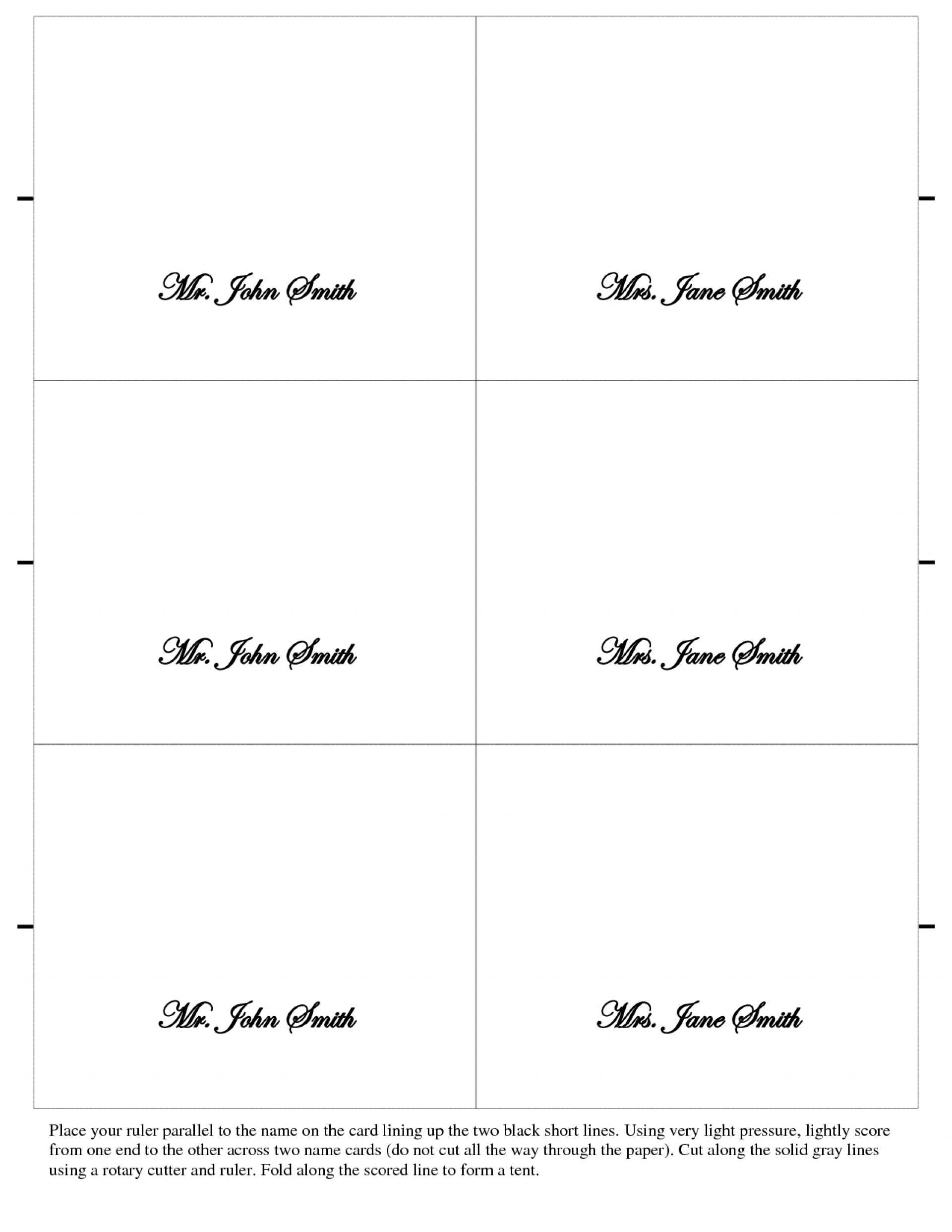 031 Template Ideas Table Tent Place Card Best Free Download Throughout Tent Name Card Template Word