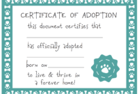 032 Template Ideas Blank Service Dog Certificate Screen Shot with regard to Pet Adoption Certificate Template
