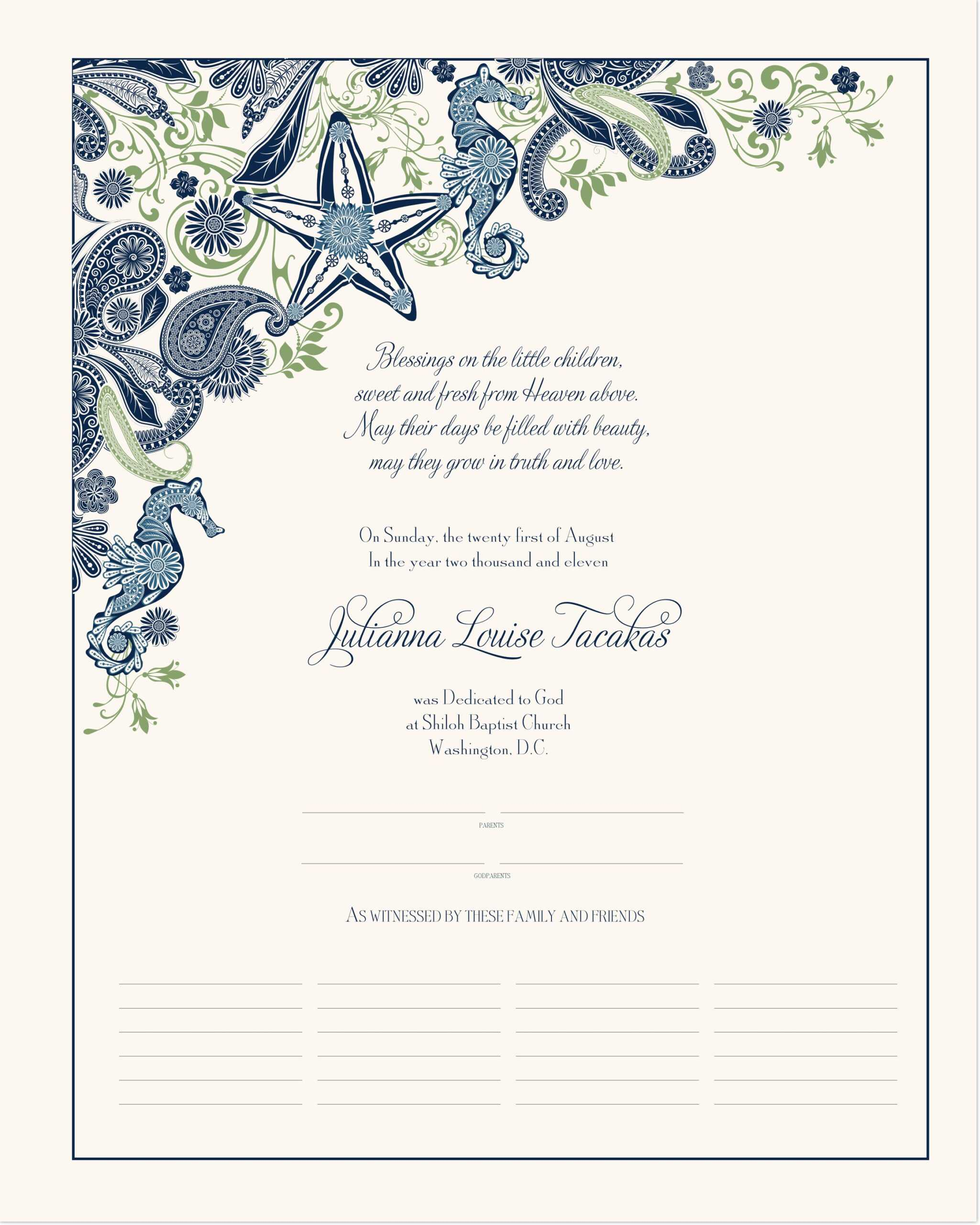 032 V Baby Dedication Certificate Template Free Archives As Inside Baby Dedication Certificate Template