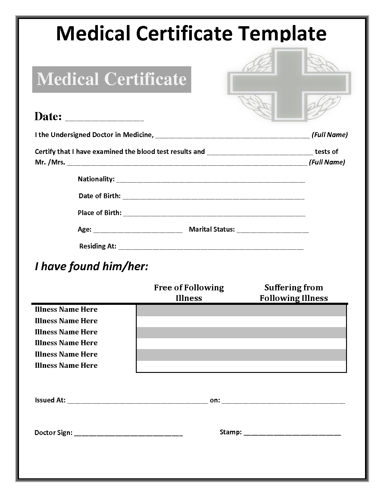 034 Free Doctors Note Template Australia Fake 142285 Pertaining To Australian Doctors Certificate Template