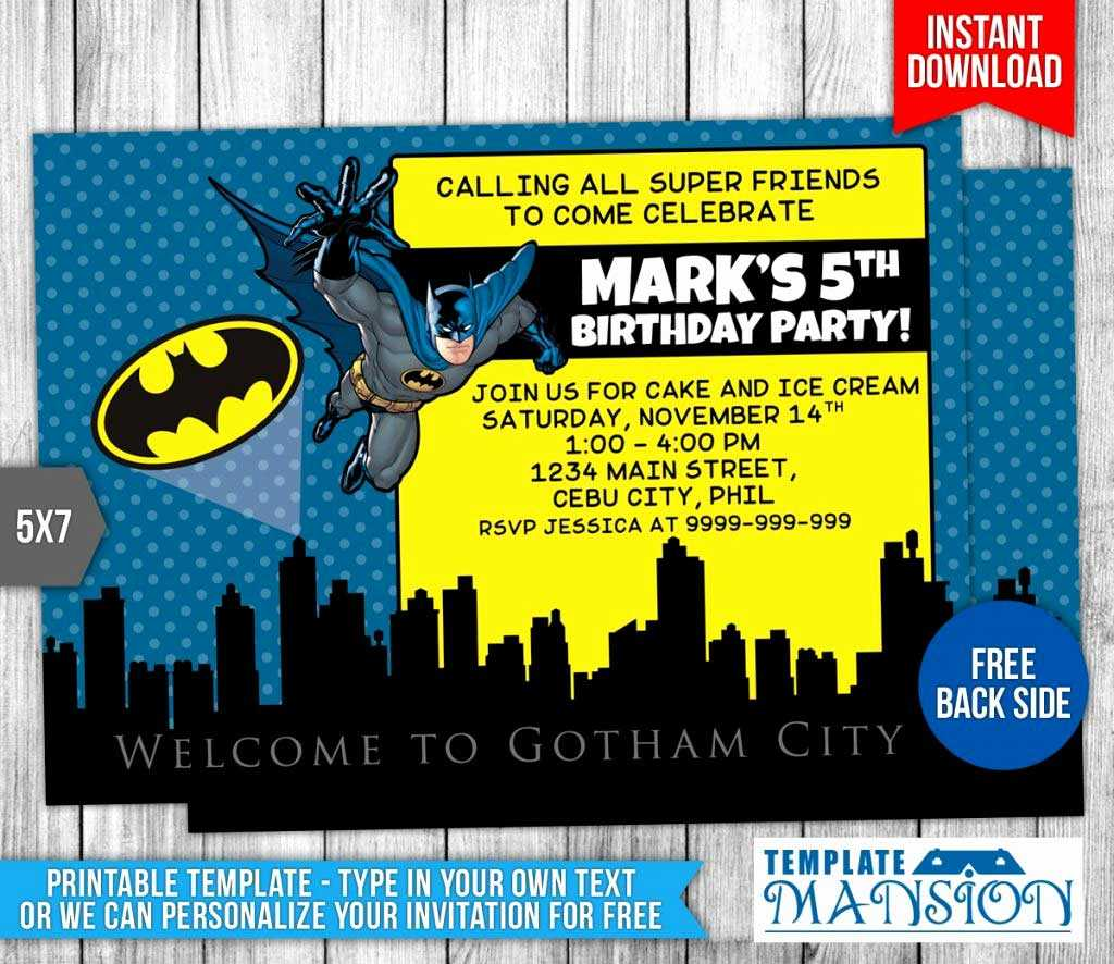 035 Template Ideas Free Batman Birthday Card Fresh With Superman Birthday Card Template