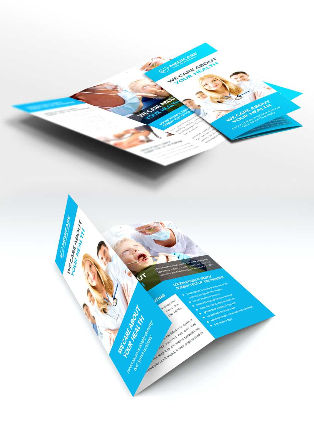 037 Set Of Medical Brochure Annual Report Flyer Design With Regard To Healthcare Brochure Templates Free Download