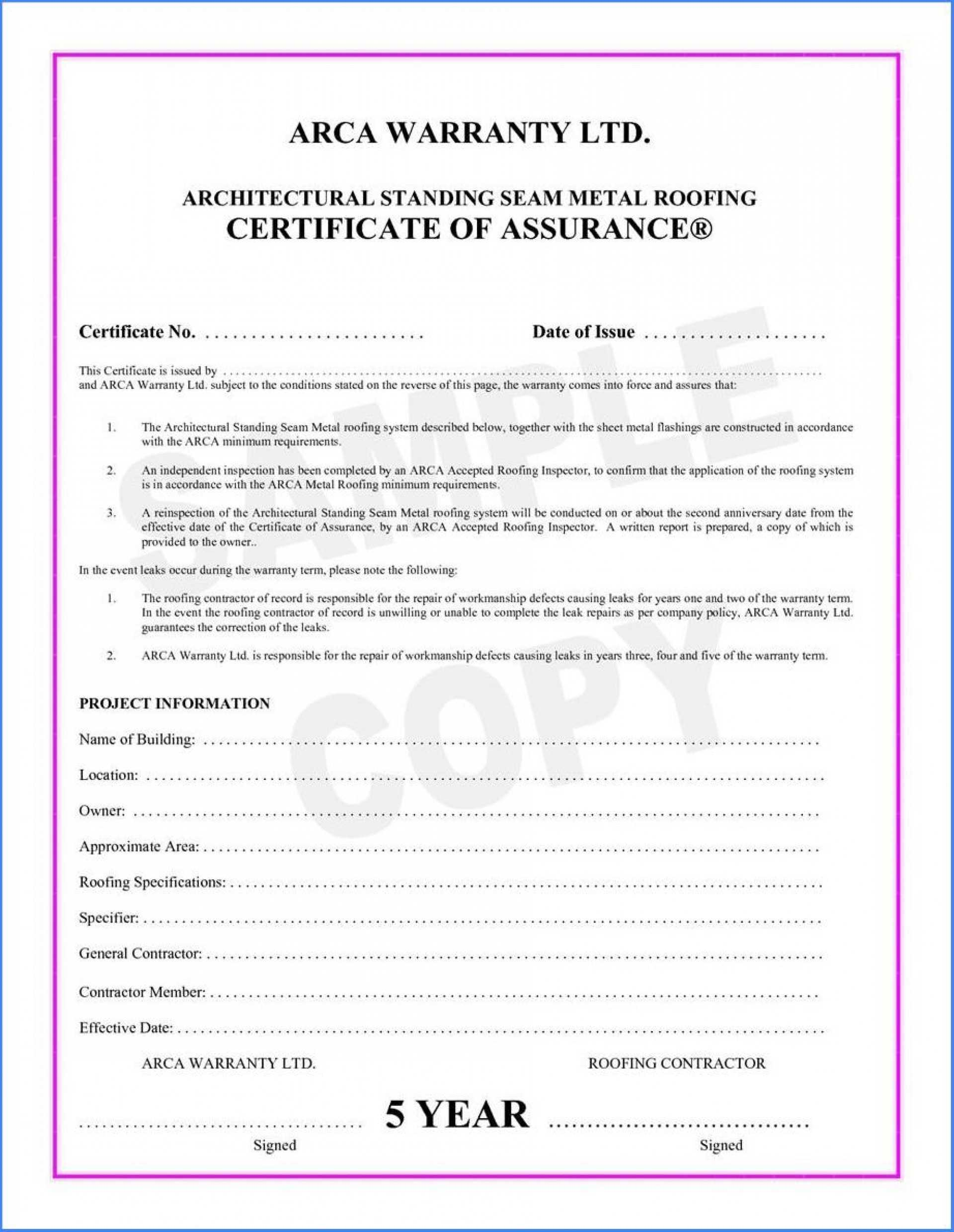 038 Template Ideas Certificate Of Final Completion Form For Pertaining To Construction Certificate Of Completion Template