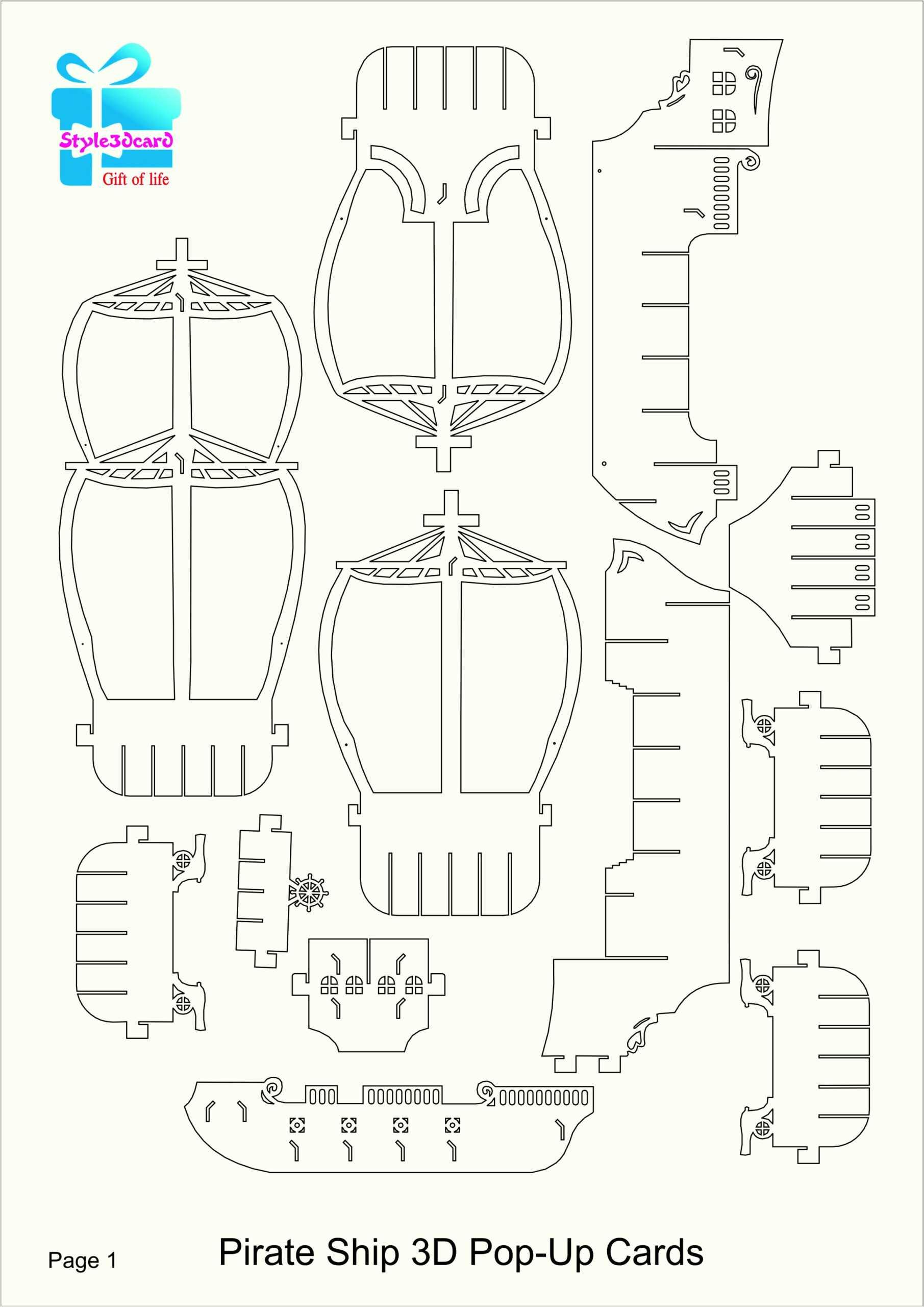 039 Template Ideas Wondrous Printable Kirigami Templates Pdf Inside Pop Up Card Templates Free Printable