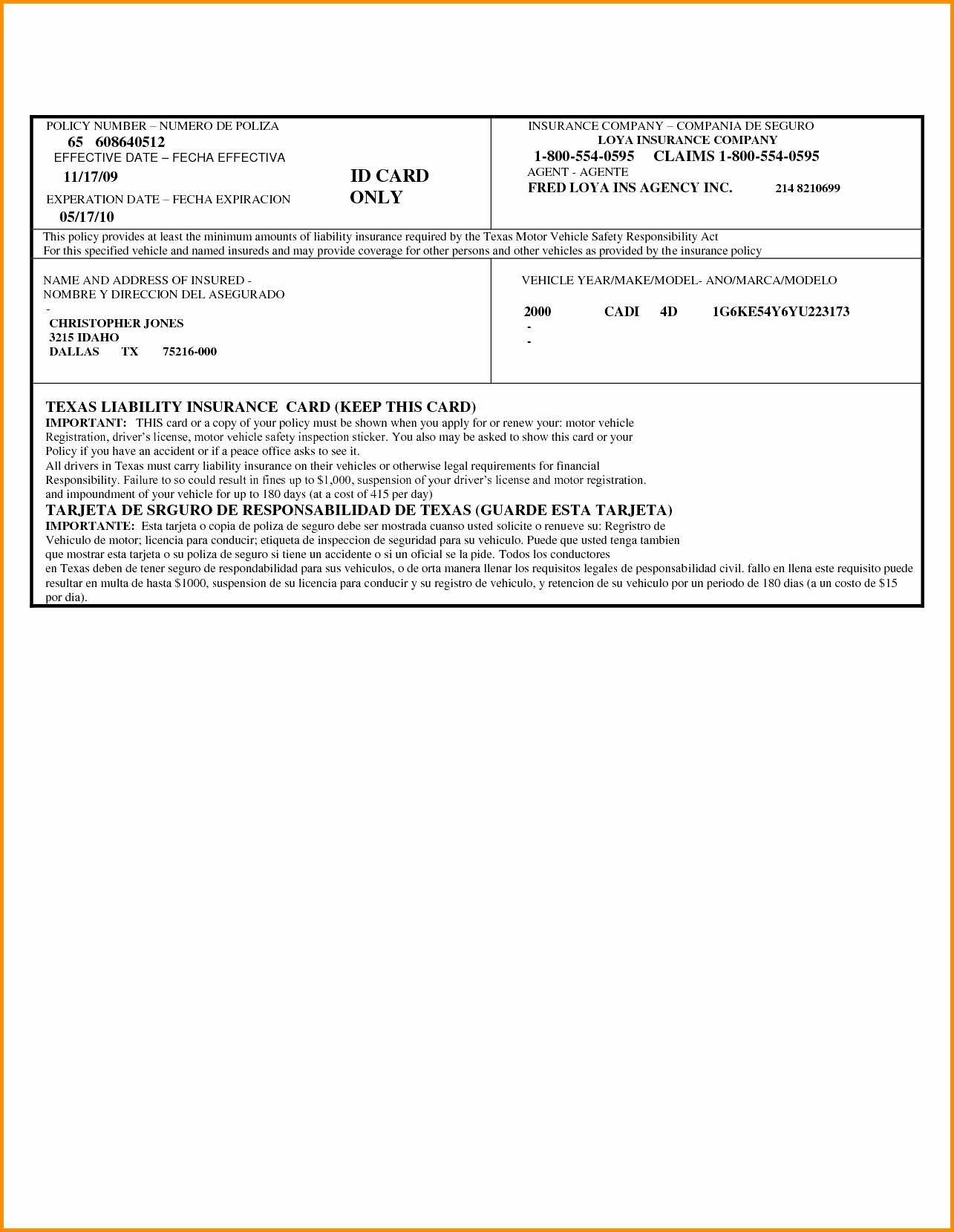 044 Fake Proof Of Insurance Templates Car Card Pdf Awesome For Free Fake Auto Insurance Card Template
