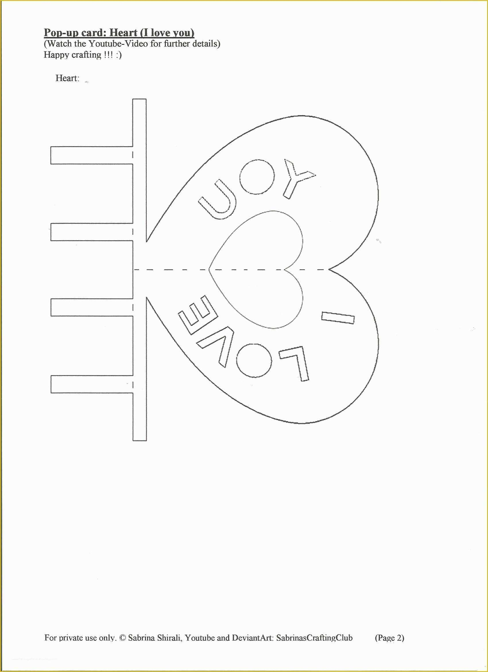 044 Template Ideas Pop Up Cards Templates Card Free Download Pertaining To I Love You Pop Up Card Template