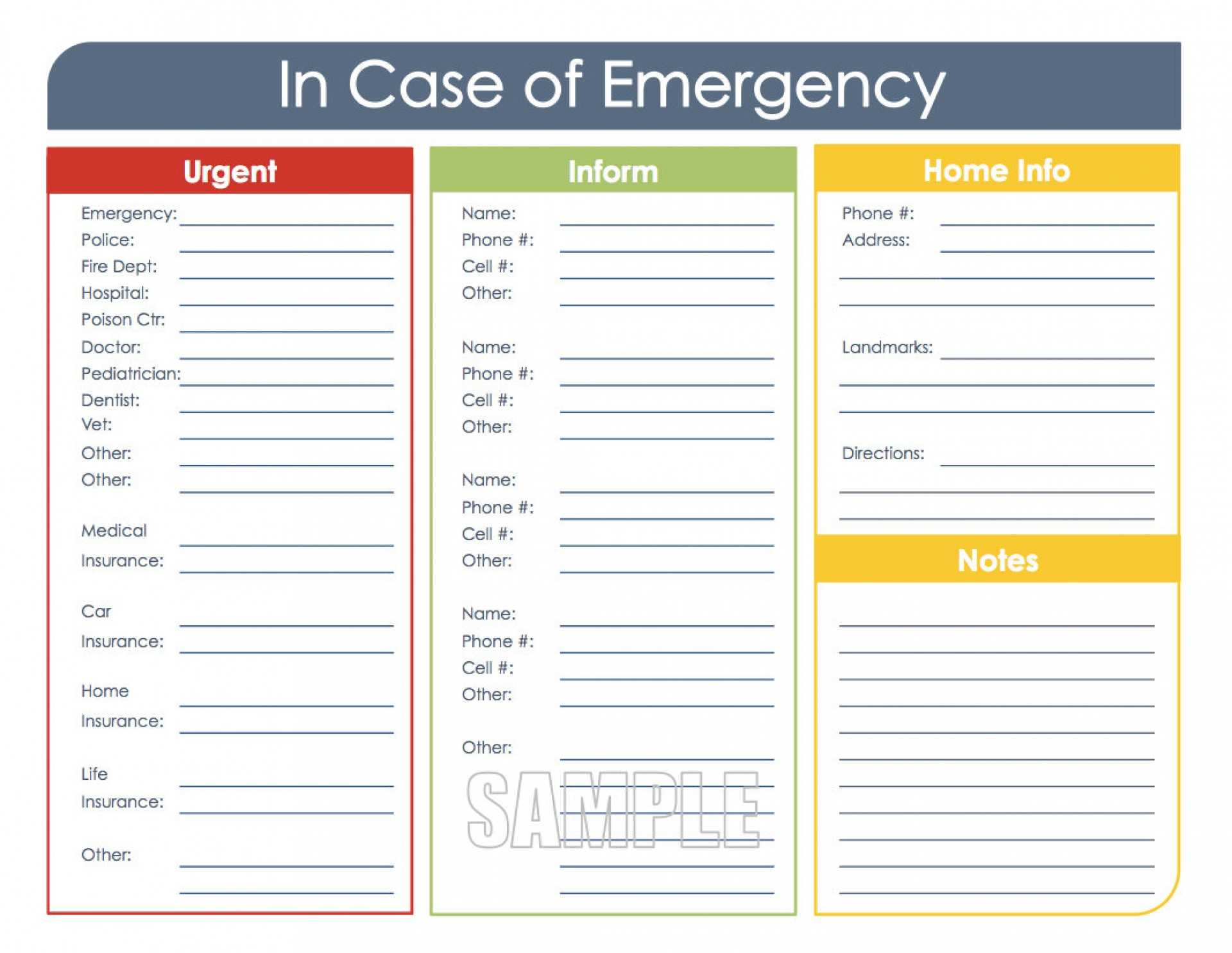 046 Template Ideas Emergency Contact Card Il Fullxfull With In Case Of Emergency Card Template