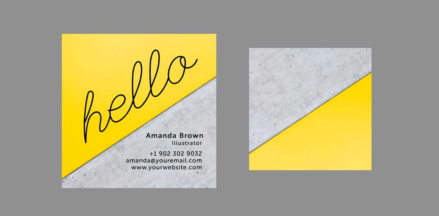 10 Clean & Simple Business Card Templates Perfect For Any Regarding Freelance Business Card Template