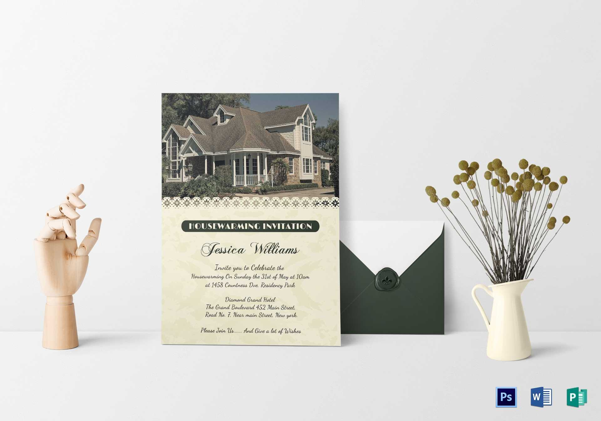 10+ Modern Housewarming Invitation Templates | Free Intended For Free Housewarming Invitation Card Template