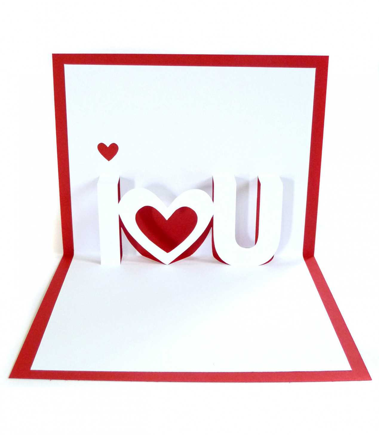 10 Valentine Pop Up Card Template   Cards Templates Pertaining To I Love You Pop Up Card Template