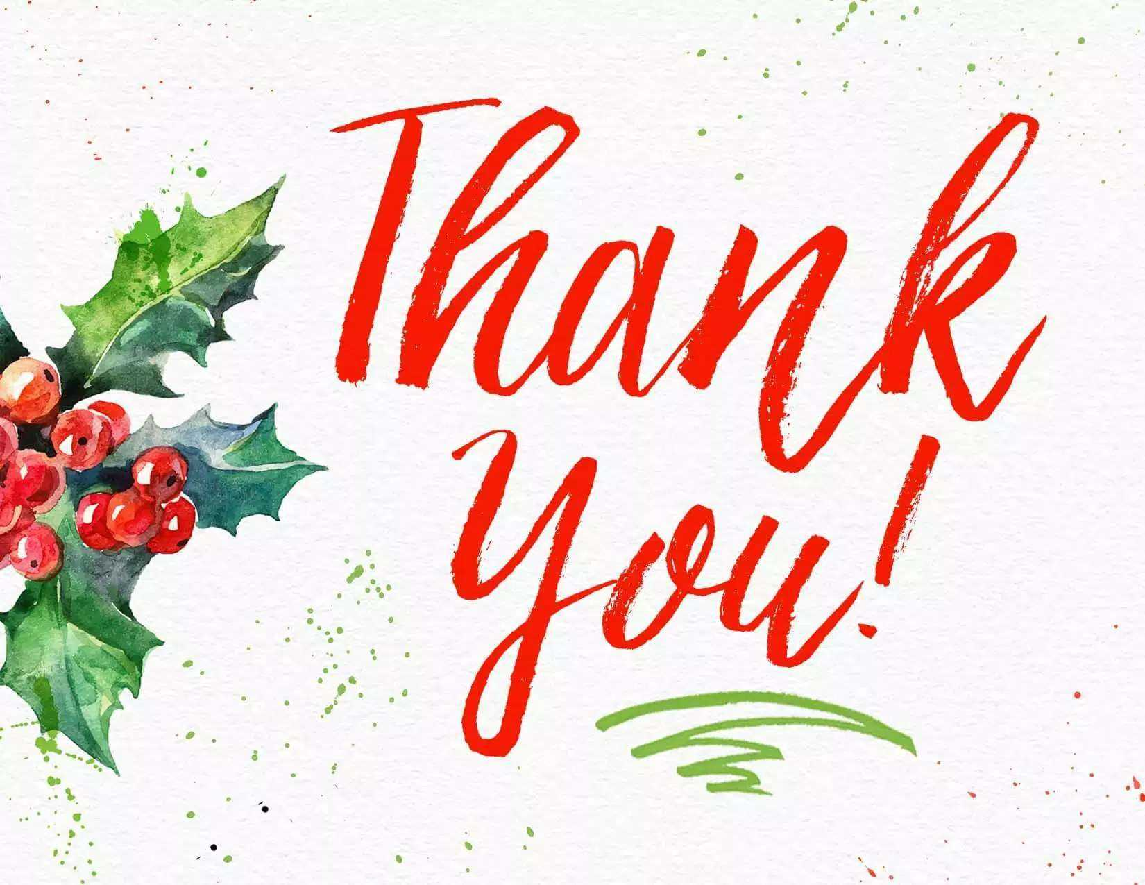 11 Free, Printable Christmas Thank You Cards Throughout Christmas Thank You Card Templates Free