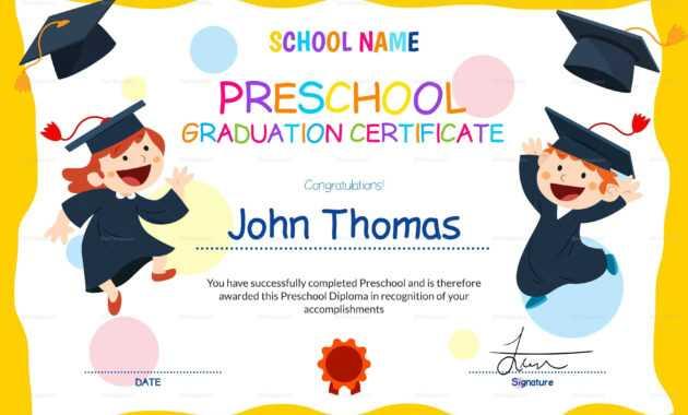 11+ Preschool Certificate Templates - Pdf | Free & Premium pertaining to Preschool Graduation Certificate Template Free