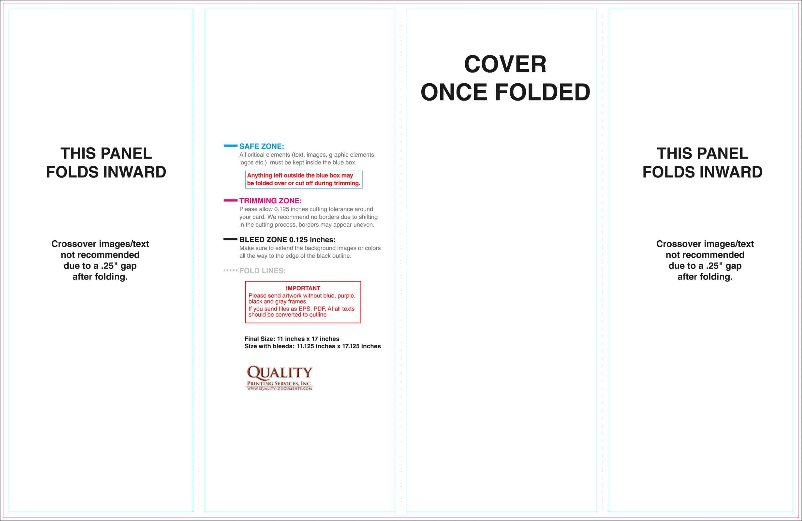 11X17 Brochure Templates Intended For 11X17 Brochure Template