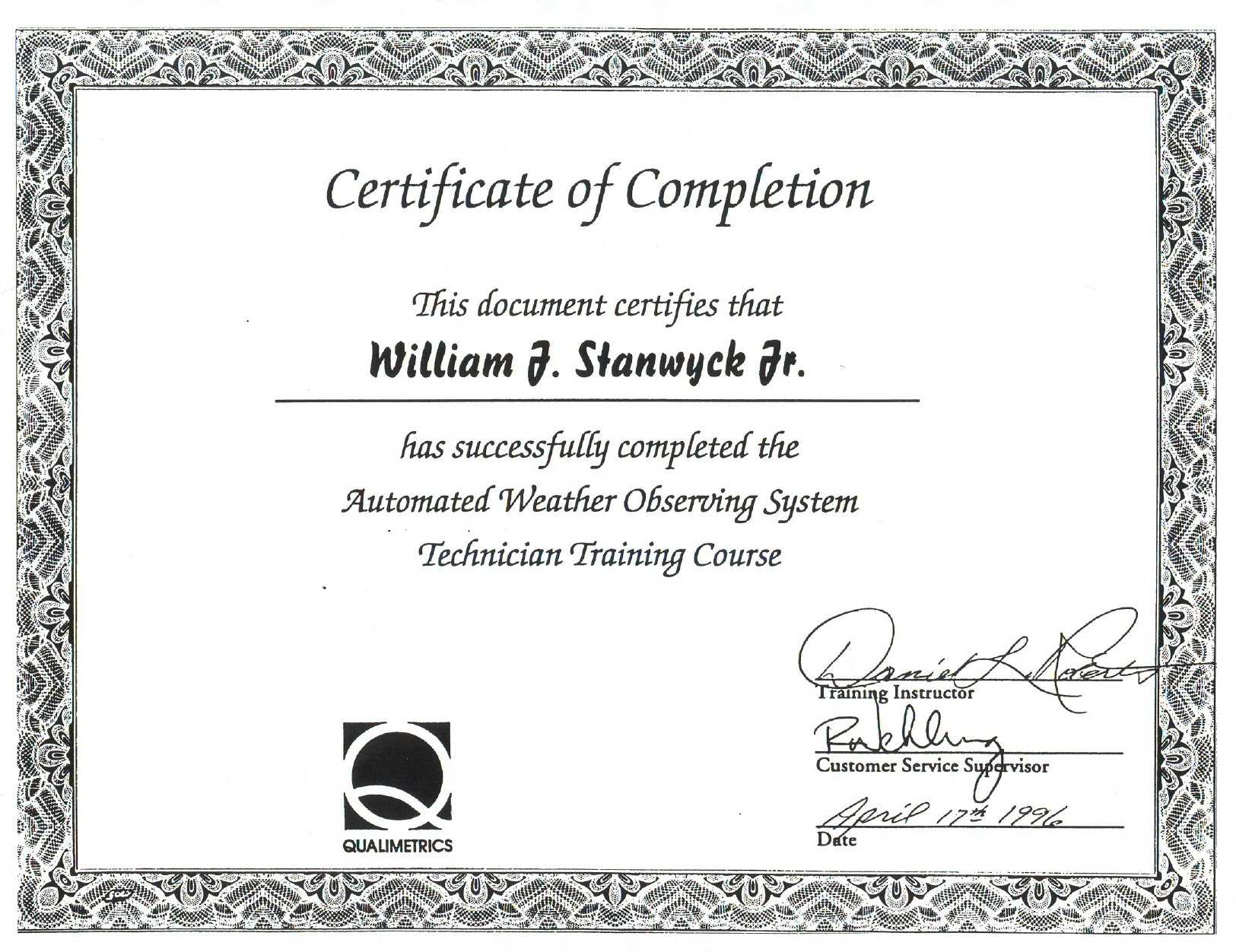 12 13 Samples Of Certificates Of Completion | Mysafetgloves Throughout Fall Protection Certification Template