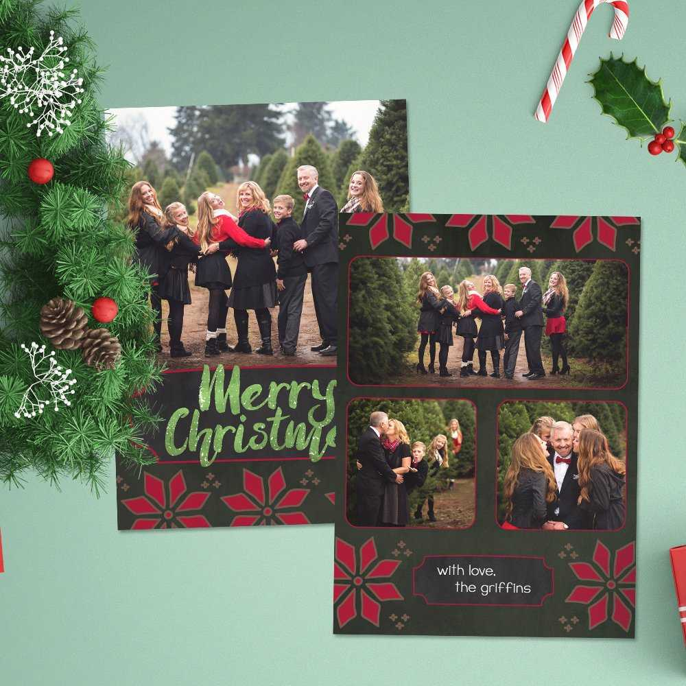 12 Christmas Card Photoshop Templates To Get You Up And Intended For Christmas Photo Card Templates Photoshop