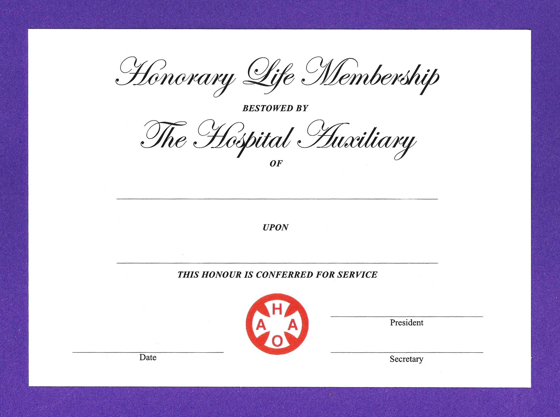 14+ Honorary Life Certificate Templates - Pdf, Docx | Free Within Life Membership Certificate Templates