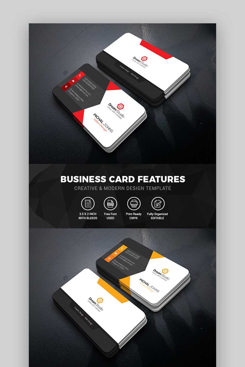 15+ Best Free Photoshop Psd Business Card Templates Pertaining To Create Business Card Template Photoshop