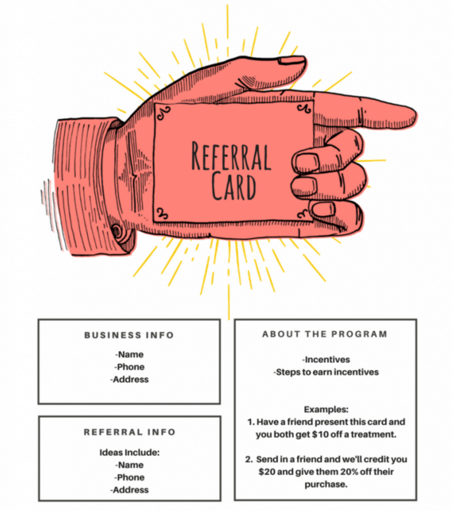 15 Examples Of Referral Card Ideas And Quotes That Work With Regard To Referral Card Template Free