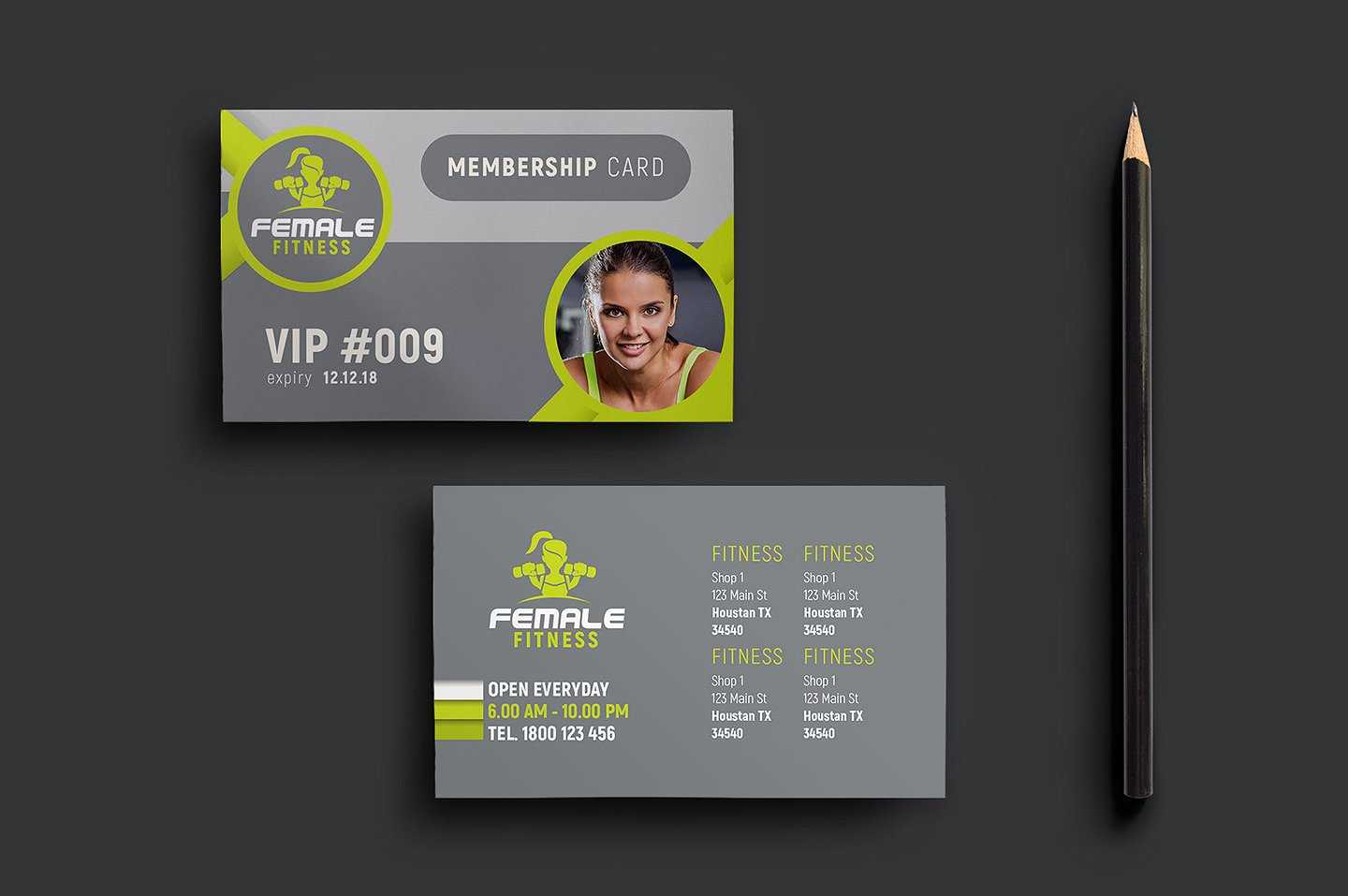 15+ Membership Card Designs | Design Trends - Premium Psd With Regard To Gym Membership Card Template