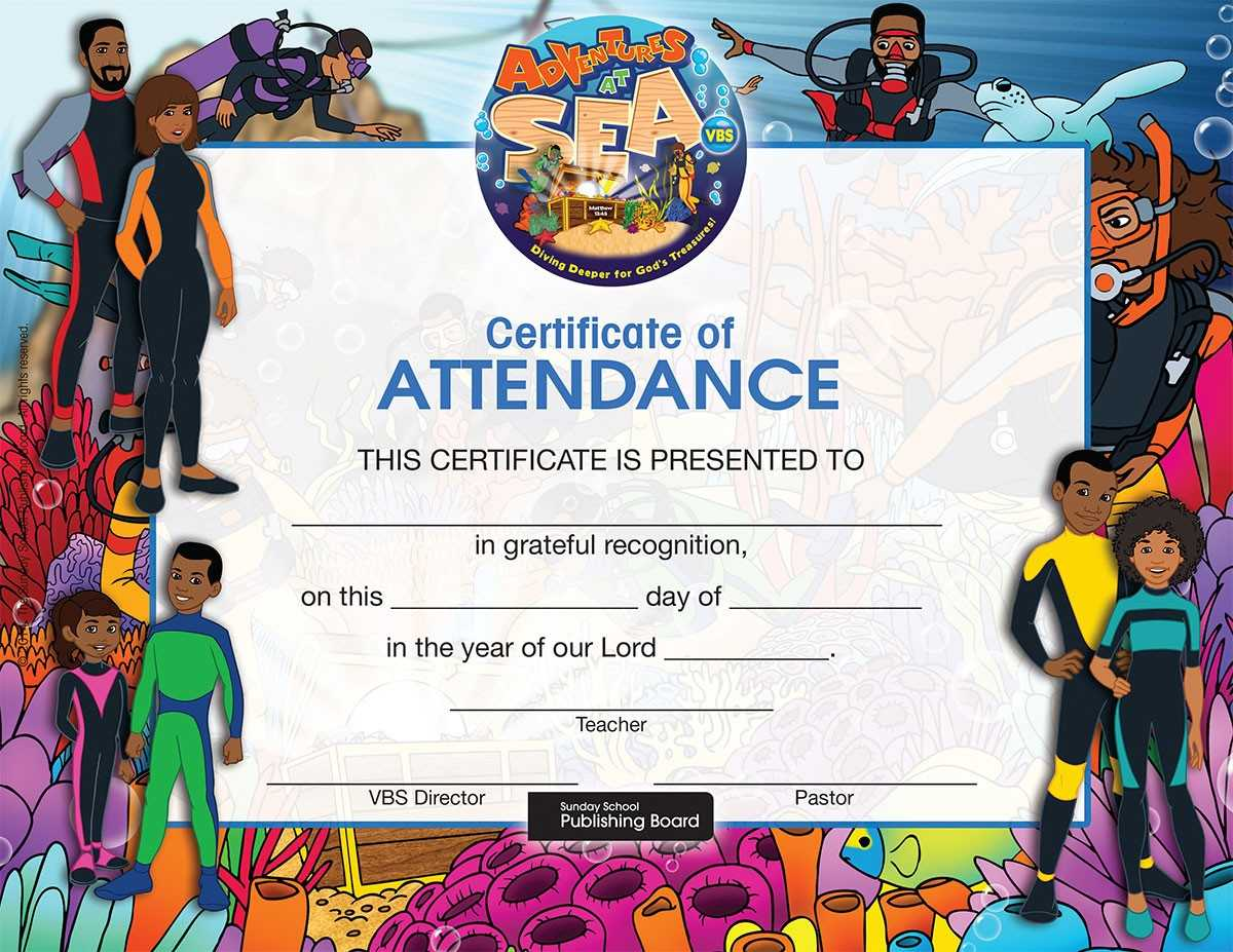 17 Images Of Attendance Certificate Template For Vbs Intended For Vbs Certificate Template