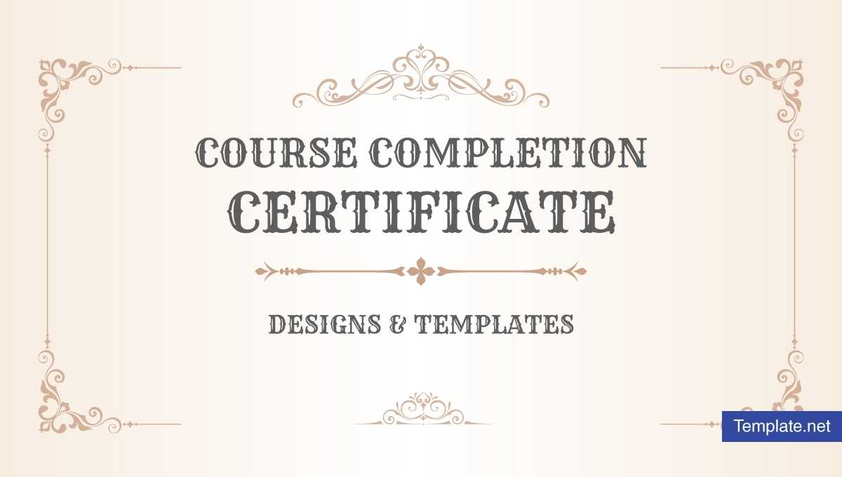 19+ Course Completion Certificate Designs & Templates - Psd Pertaining To Free Completion Certificate Templates For Word