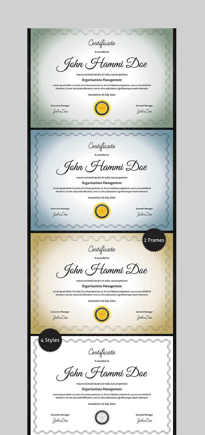 20 Best Word Certificate Template Designs To Award Intended For Professional Certificate Templates For Word