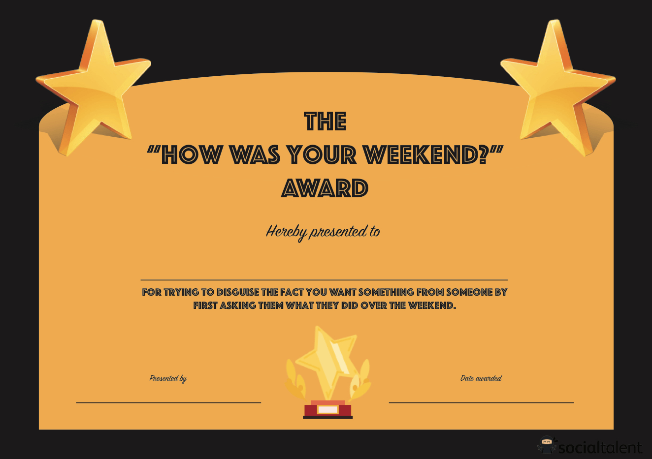 20 Hilarious Office Awards To Embarrass Your Colleagues For Funny Certificate Templates