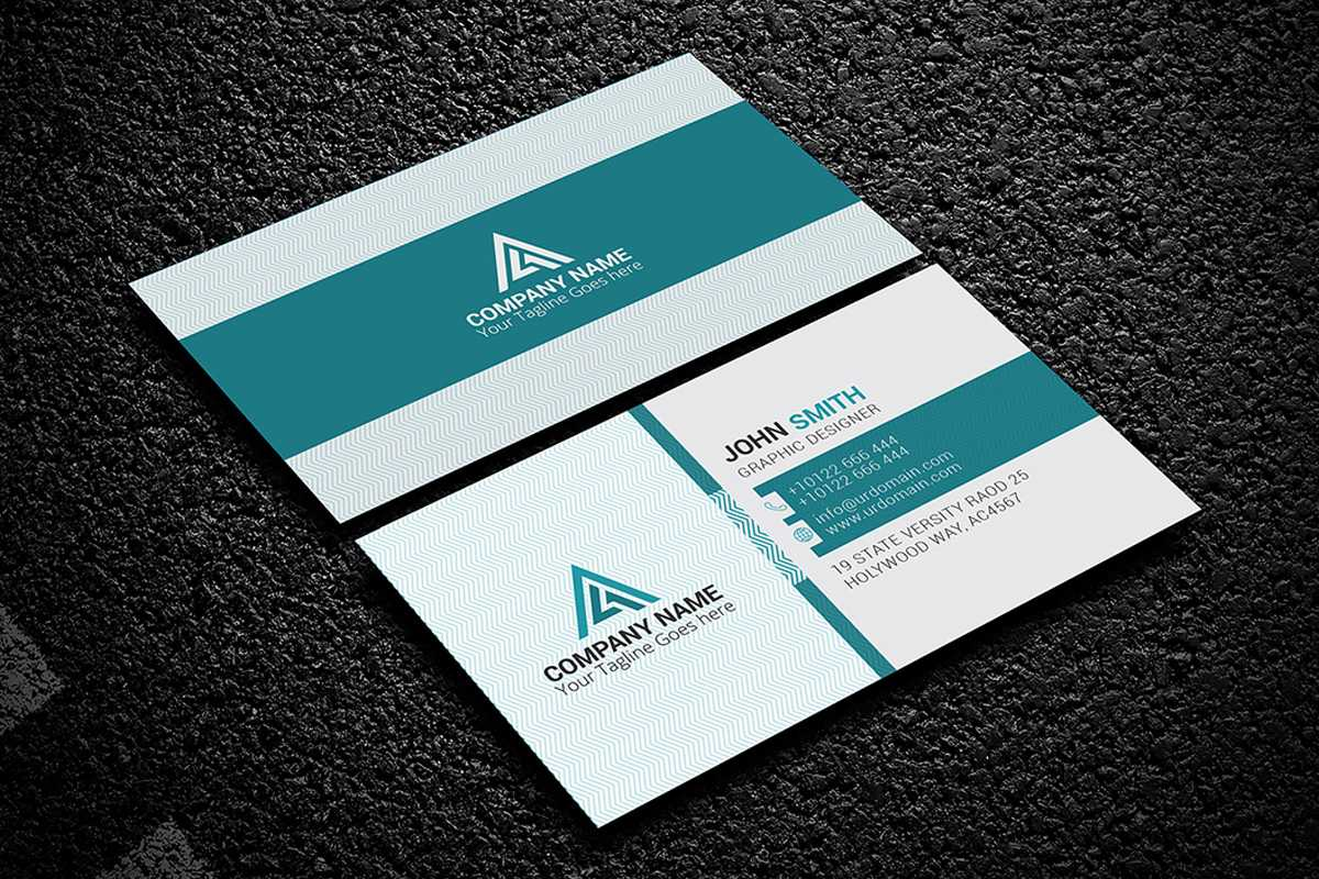 200 Free Business Cards Psd Templates - Creativetacos With Name Card Design Template Psd