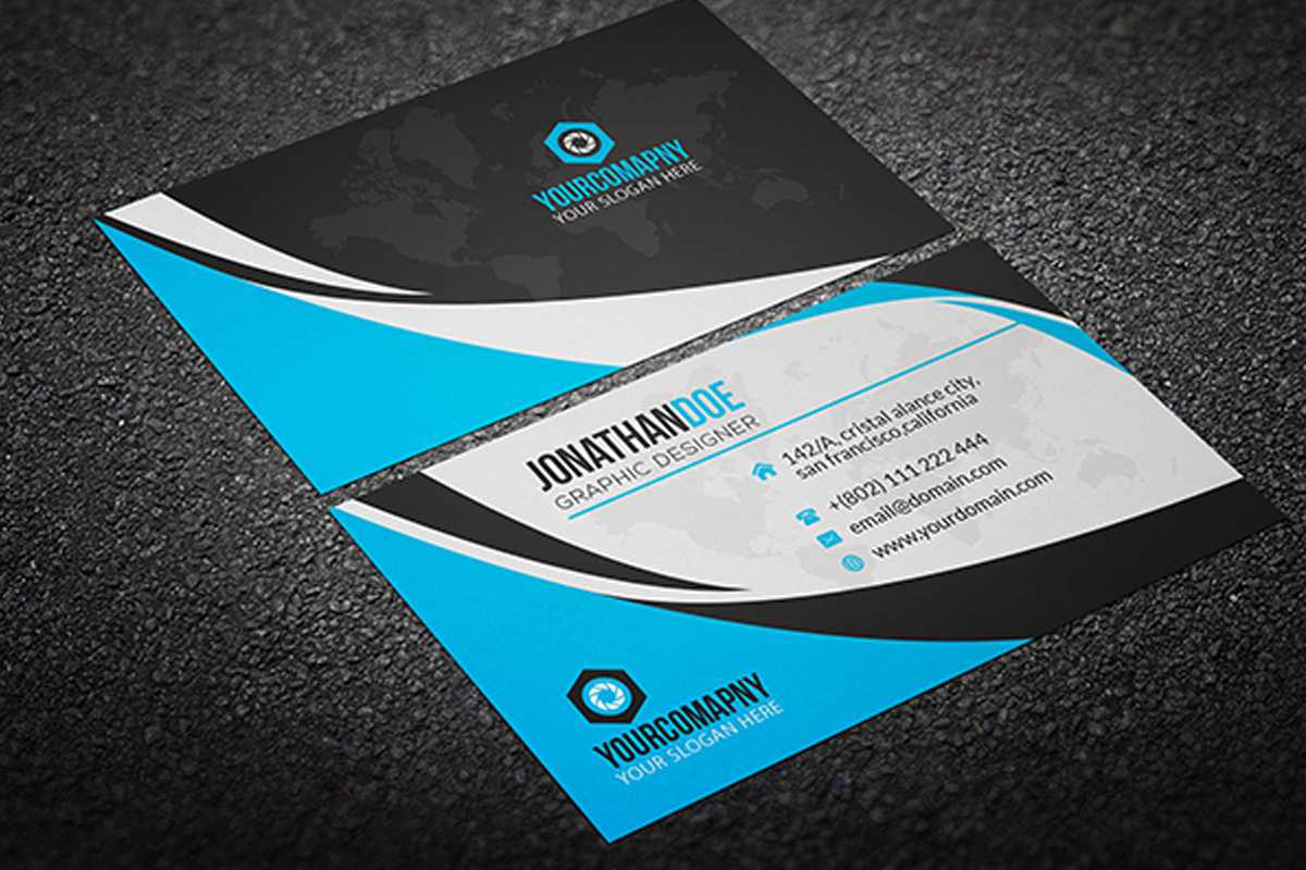 200 Free Business Cards Psd Templates – Creativetacos With Name Card Photoshop Template