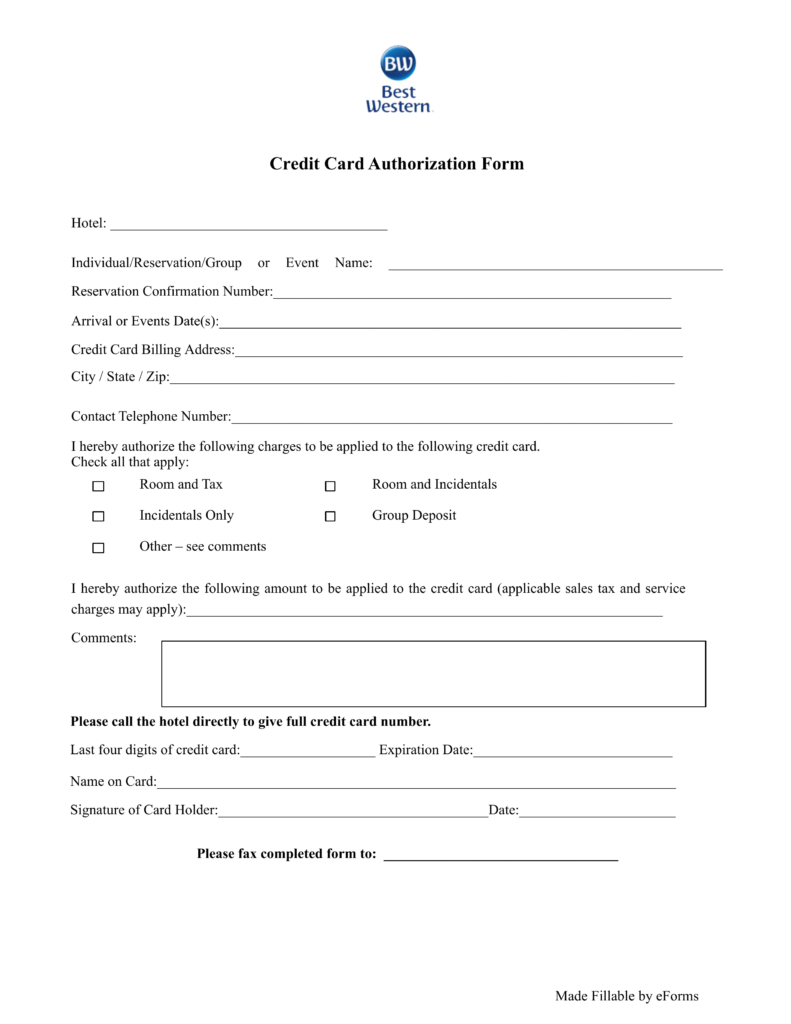 21+ Credit Card Authorization Form Template Pdf Fillable 2019!! Inside Credit Card Payment Form Template Pdf