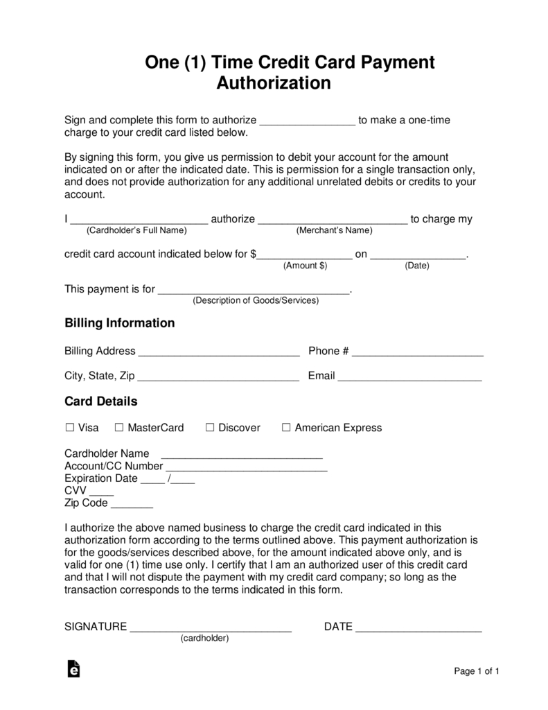 21+ Credit Card Authorization Form Template Pdf Fillable 2019!! Within Credit Card Billing Authorization Form Template