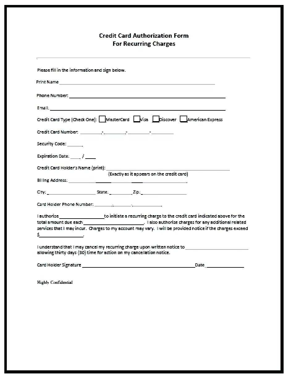 21+ Credit Card Authorization Form Template Pdf Fillable 2019!! Within Credit Card Payment Slip Template