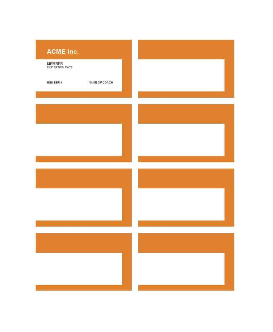 25 Cool Membership Card Templates & Designs (Ms Word) ᐅ With Regard To Membership Card Template Free