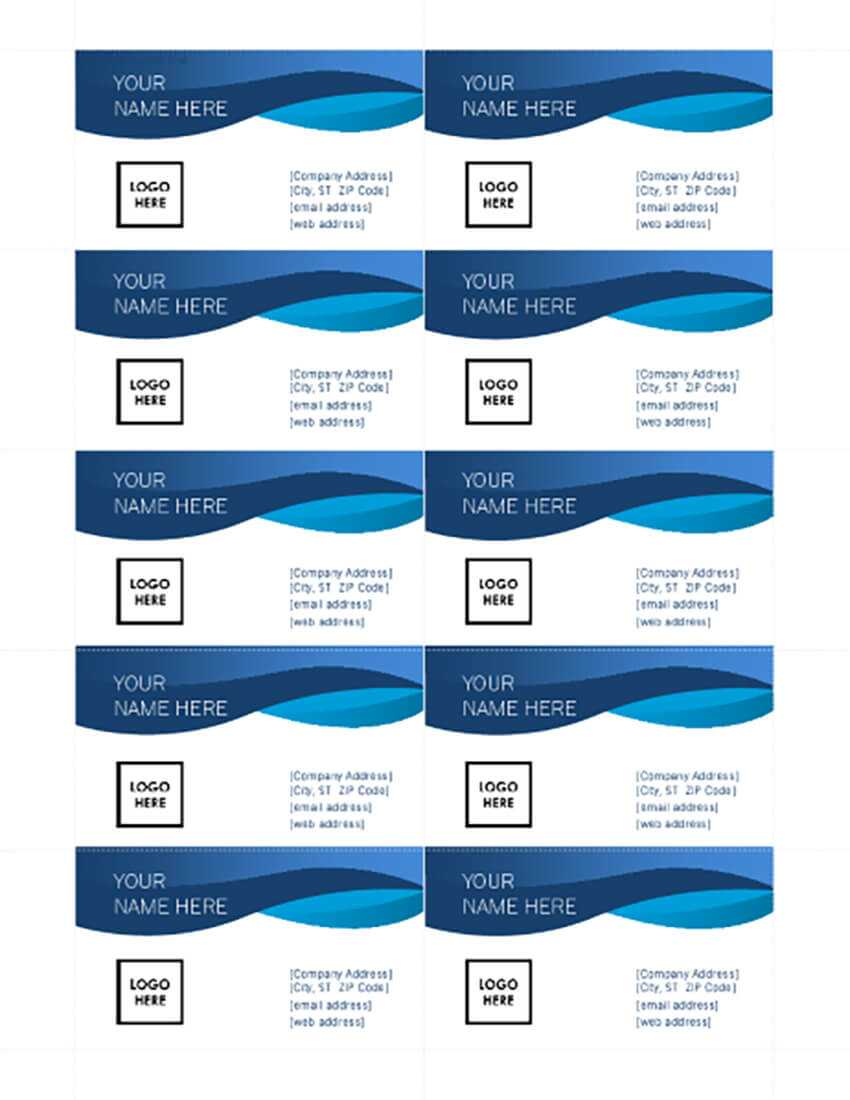 25+ Free Microsoft Word Business Card Templates (Printable For Word Template For Business Cards Free
